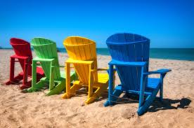 Plastic Beach Chairs Beach Chairs Sanibel Island Photograph By Dustin Ahrens