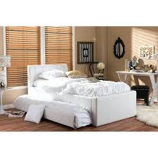 baxton studio cosmo modern and contemporary white faux leather