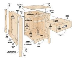 free woodworking plans for bedside table image mag