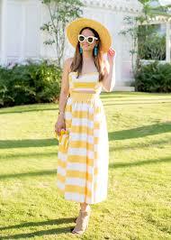mara hoffman yellow stripe midi dress
