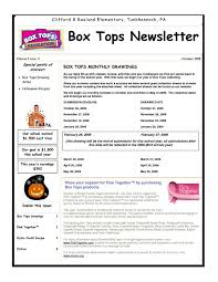 box tops newsletter box tops and labels pinterest box tops