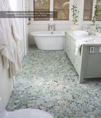 river rock bathroom ideas bathroom floors of river rock some fabulous ideas home ideas
