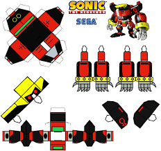Sonic The Hedgehog Papercraft - sonic the hedgehog papercraft e 123 omega by tvfan0001 on deviantart