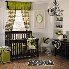 Diy Baby Girl Nursery Decor by Diy Baby Room Decor With White Wall Stained And Green Curtains For