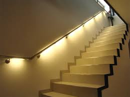 excellent stairs decoration idea with metallic ball lights on