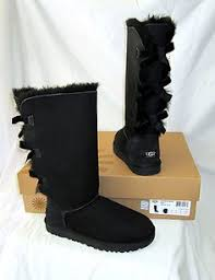 ugg s boots black ugg bailey bow charms bling boots white silver us 7 38