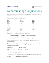 englishforeveryoneorg answer key subordinating conjunctions fill