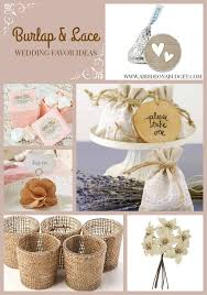 wedding favors on a budget burlap and lace wedding favor ideas a on a budget