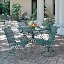 rocking wright iron patio furniture sets