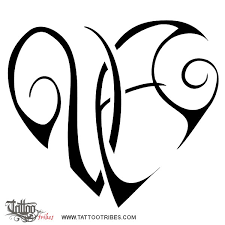 tattoo of v a heart union bond tattoo custom tattoo designs on