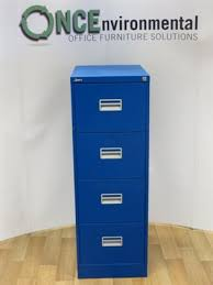 Silverline Filing Cabinet Used Office Storage Silverline Blue 4 Drawer Filing Cabinet 1320h