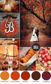 autumn wedding colors brown orange wedding colors