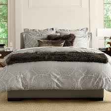 suzani jacquard bedding gray williams sonoma