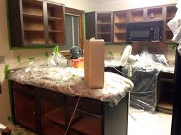 Gel Stains For Kitchen Cabinets Gel Staining Kitchen Cabinets For An Easy Thrifty Update