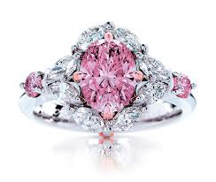 rings pink diamonds images Pink diamond rings unique engagement ring jpg