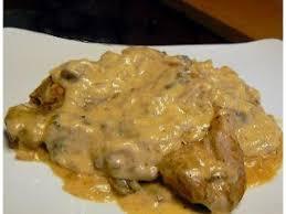 cuisiner cote de porc côtelettes de porc sauce aux chignons vin et moutarde recette