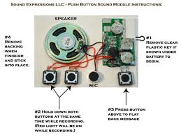 recordable cards push button sound modules