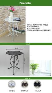 metal small round leisure tea table corner balcony coffee table