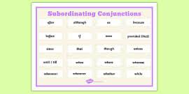 using subordinate clause lesson teaching pack subordinate