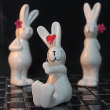 online get cheap porcelain rabbit figurines aliexpress com