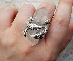 large ladies rings images Large crystal quartz ring crystal point ring large jpg