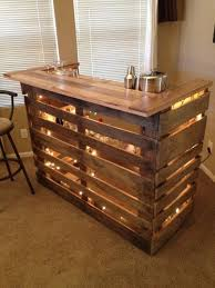 pallet bar table diy and easy pallets