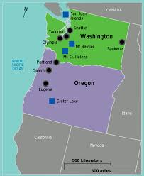 map usa northwest pacific northwest travel guide at wikivoyage