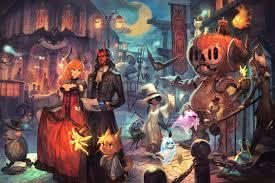 halloween witch anime fairy spirit animal wallpaper