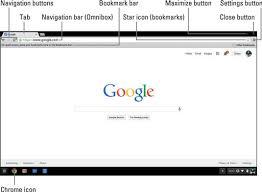 Google Top Bar Chromebook Using The Omnibox And Navigation Buttons Dummies