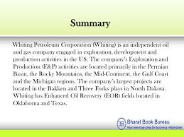 the bureau production company bharat book bureau whiting petroleum corporation company