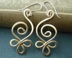 vire earrings celtic loops copper wire earrings celtic by nicholasandfelice