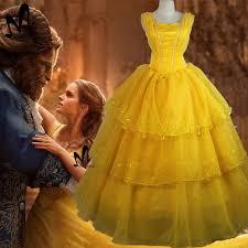 Halloween Costume Belle Aliexpress Buy 2017 Movie Beauty Beast Princess