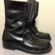 womens black combat boots size 9 best vintage boots products on wanelo