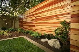 Cheap Backyard Fence Ideas by Cheap Wooden Fence Panels Building A Horizontal Plank Fence