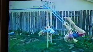 vintage 1989 circus tricks on backyard jungle gym youtube