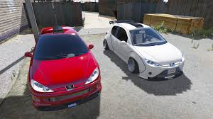 peugeot fire peugeot 206 lopi bodykit add on replace tuning gta5 mods com