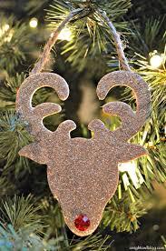 reindeer ornaments glitter reindeer ornaments a owl