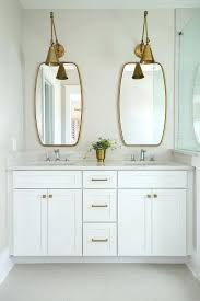 brass bathroom mirror swing arm bathroom mirror brass vanity with sconce transitional