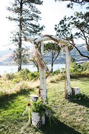 wedding arch log 36 wood wedding arches arbors and altars weddingomania