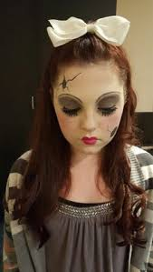 Creepy Doll Halloween Costume Broken Doll Shoot Creepy Doll Makeup Doll Makeup Haunted Houses