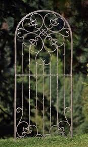 amazon com h potter large garden trellis wrought iron heavy