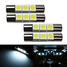 Vanity Bulbs Led Amazon Com Ijdmtoy 4 3 Smd 29mm 6614f Led Replacement Bulbs For