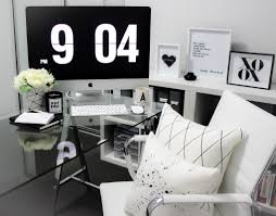 blonde blue u0027s minimalist elegant home office office tour