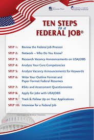 Federal Job Resumes by Ten Steps To A Federal Job Curriculum