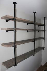 Industrial Shelving Units by How To Build Diy Industrial Galvanized Pipe Shelves Pipe