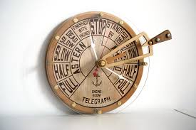 buy engine order telegraph with moving handle wooden wall clock at