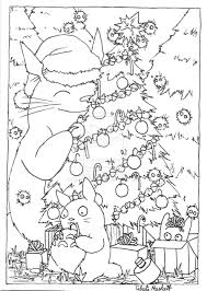 totoro christmas card lineart by graywolfshadow deviantart com on