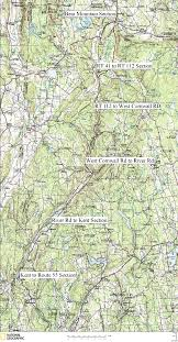 Connecticut New York Map by Connecticut Appalachian Trail Hiking Map
