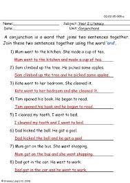 primaryleap co uk conjunctions worksheet