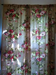 Retro Floral Curtains Vintage Floral Curtains 1940 S 1950 S By Savannahmoore On Etsy